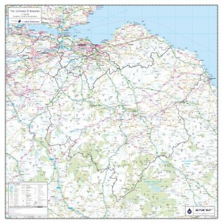 Lothians and Borders Wall Map